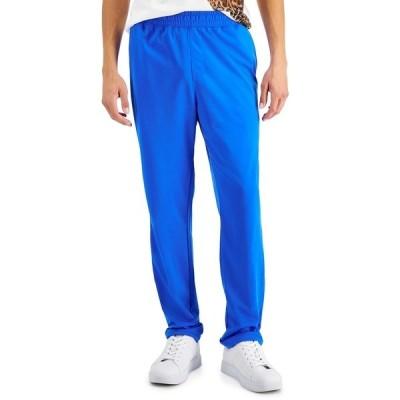 アイエヌシーインターナショナルコンセプト カジュアルパンツ ボトムス メンズ INC Men's Regular-Fit Solid Track Pants, Created for Macy's Cosmic Cobalt