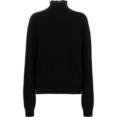 ザ ロウ The Row レディース ニット・セーター タートルネック トップス kensington cashmere turtleneck sweater Black