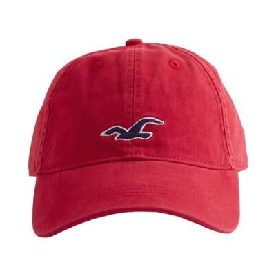 【並行輸入品】ホリスター メンズ キャップ ( 帽子 ) Hollister Icon Baseball Hat (レッド) 【野球帽 キャップ 】