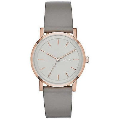 腕時計 ディーケーエヌワイ DKNY レディース NY2341 'Soho' グレー レザー 腕時計