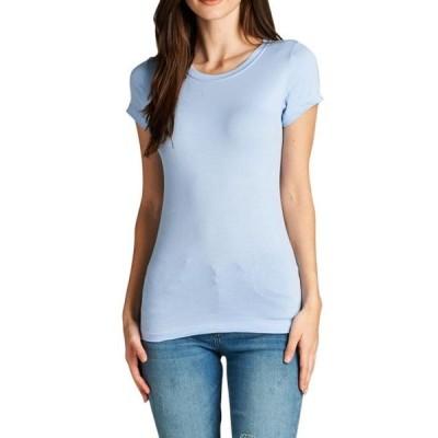 ユニセックス 衣類 トップス Wonen's Short Sleeve Crew Neck Basic Tee Shirts Top グラフィックティー