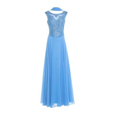 MIKAEL ロングワンピース&ドレス パステルブルー 10 ポリエステル 100% ロングワンピース&ドレス