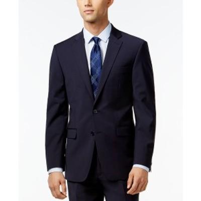 カルバンクライン メンズ ジャケット&ブルゾン アウター Infinite Stretch Solid Slim-Fit Jacket Navy