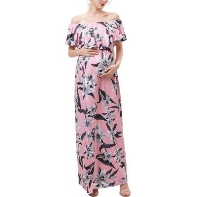 キミ アンド カイ ワンピース トップス レディース Clara Maternity or Nursing Floral Print Maxi Dress Multicolor