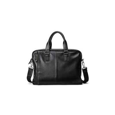 """Woodland Leather Black Landscape Tote Style Bag 14.5"""" with Central Zip Adjustable Shoulder Strap 並行輸入品"""