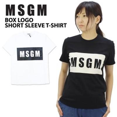 エムエスジーエム(MSGM) BOX LOGO SHORT SLEEVE T-SHIRT 半袖/Tシャツ/女性用/レディース[AA]