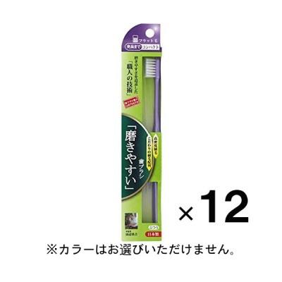 磨きやすい歯ブラシ 奥歯コンパクトフラット SLT-11 ×12本 納期1週間程度 メール便送料無料