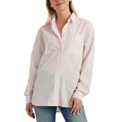 ラッキーブランド カットソー トップス レディース Relaxed One-Pocket Shirt Pink Multi