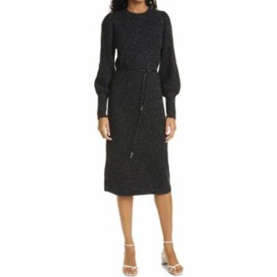 テッドベーカー TED BAKER LONDON レディース ワンピース ワンピース・ドレス Faustaa Long Sleeve Wool Blend Midi Dress Black