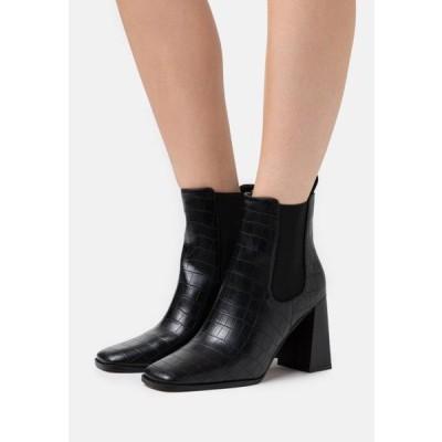 エヌエーケイディー レディース ブーツ FLARED BLOCK HEEL BOOTS - High heeled ankle boots - black