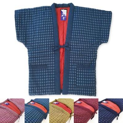矢絣婦人やっこ 袖なしはんてん 久留米手づくり 半天 5色 7380 レディース 女性 半纏 袢纏
