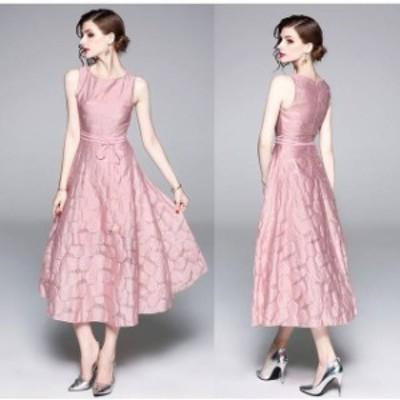 パーティードレス 結婚式 二次会 お呼ばれ ワンピース ノースリーブ お呼ばれドレス ドレス 20代 30代 40代 大きいサイズ ロング