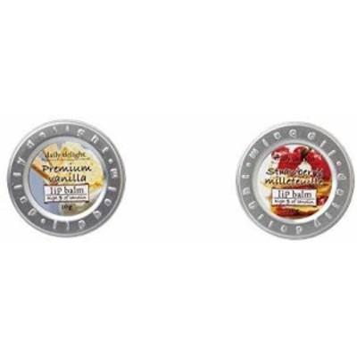 【セット買い】デイリーディライト リップバーム プレミアムバニラ 10g(リップクリーム 缶入り 唇用保湿クリーム 上質なバニラアイスクリ