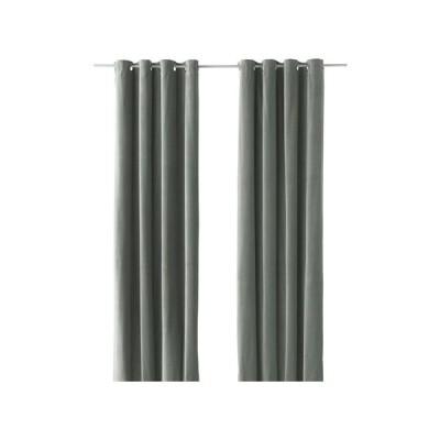 IKEA/イケア SANELA カーテン1組, グレーグリーン (703.209.27)