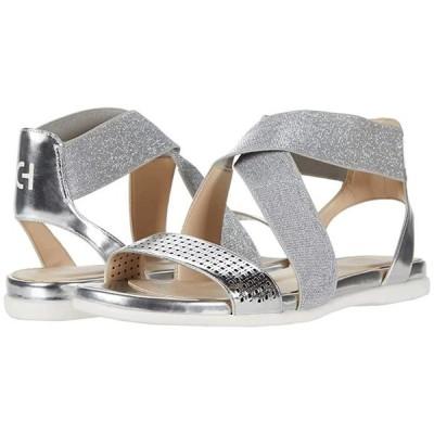 コールハーン Grand Ambition Elastic Sandal レディース サンダル Silver Specchio Perferated Upper