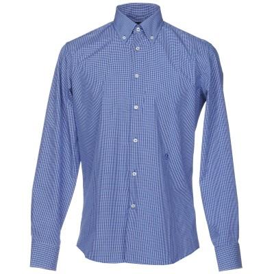 TRU TRUSSARDI シャツ ブルー 41 コットン 100% シャツ