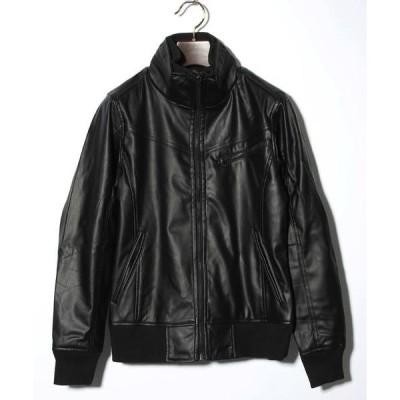 ジャケット ブルゾン レザースタンドジャケット