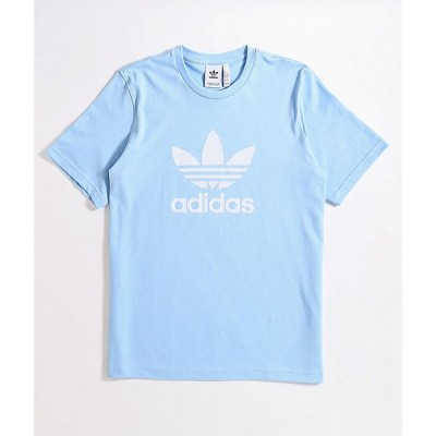 アディダス ADIDAS メンズ Tシャツ トップス trefoil clear sky blue t-shirt Light/pastel blue