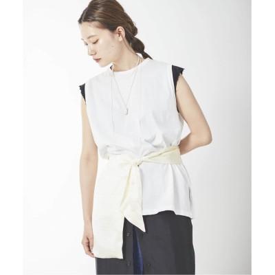 レディース プラージュ 【ARNE LECHT/アルネ レクト】 SLEEVELESS Tシャツ◆ ホワイト フリー