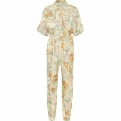 ジマーマン Zimmermann レディース オールインワン ジャンプスーツ ワンピース・ドレス glassy floral linen belted jumpsuit Washed Flo