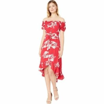 トリバル Tribal レディース ワンピース ワンピース・ドレス On and Off-Shoulder High-Low Dress Flame