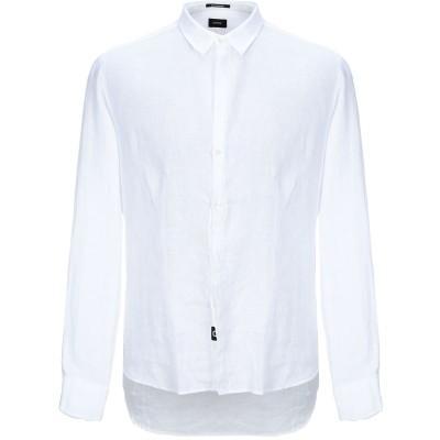 OFFICINA 36 シャツ ホワイト S リネン 100% シャツ