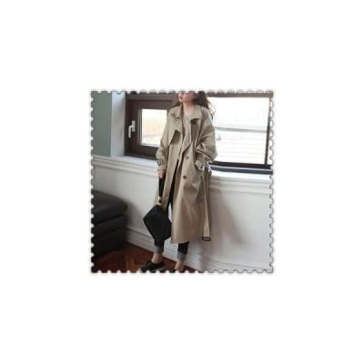 トレンチコートレディースチェスター春通勤ロングアウター20代30代40代ファッション長袖コートフォーマル