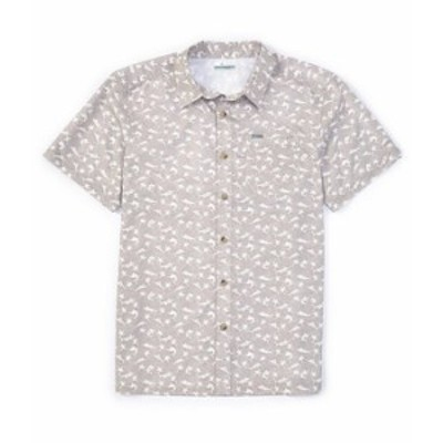 コロンビア レディース シャツ トップス PFG Super Slack Tide Short-Sleeve Printed Woven Camp Shirt Cool Grey Gamefish