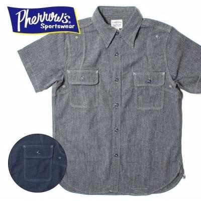 フェローズ PHERROWS 半袖 ワーク シャツ クールマックス 19S-770WSS