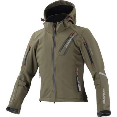 コミネ (Komine) バイク用 ジャケット Jacket JK-579 プロテクトソフトシェルウィンターパーカ-イフ ディープ オリーブ XLサイズ 07-579/D.OL/XL