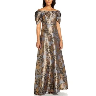 アドリアナ パペル ワンピース トップス レディース Puff-Sleeve Gown Moonlight Blue