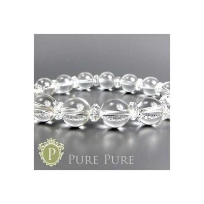 パワーストーン 天然石 ブレスレット 水晶 ブラジル産 ブレス クリスタル クォーツ 水晶 ブレスレット ハーモニー