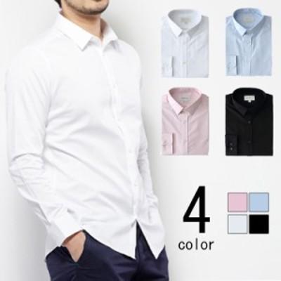 送料無料メンズ シャツ カジュアルシャツ メンズ コットン 長袖シャツ シンプル 無地 ボタンダウンシャツ カジュアルシャツ カラーシャツ