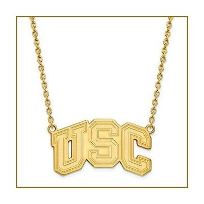 LogoArt 10k Yellow Gold University of Southern California Large Pendant Necklace【並行輸入品】