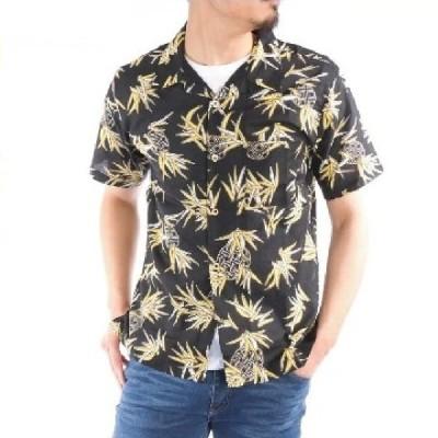 アロハシャツ 綿100% パイナップル 総柄 ハワイアン リゾート