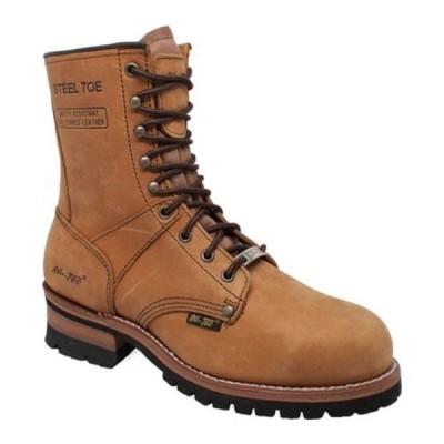 """アドテック ブーツ&レインブーツ シューズ メンズ 1740WP 9"""" Waterproof Steel Toe Logger Boot (Men's) Brown Crazy Horse Leather"""