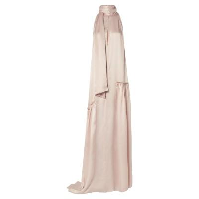 アン ドゥムルメステール ANN DEMEULEMEESTER ロングワンピース&ドレス ピンク 34 シルク 100% ロングワンピース&ドレス