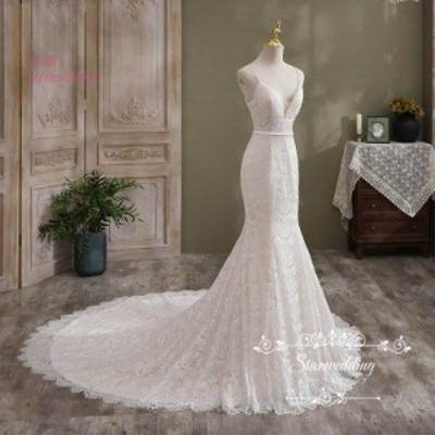 ウエディング パーティードレス 白 袖なし ウェディグドレス マーメイドラインドレス 結婚式 ロングドレス 花嫁 大きいサイズ 二次会 前