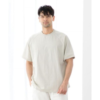 coen / 【WEB限定】FEELING MADE  ハイツイストコットン ラグランスリーブ Tシャツ MEN トップス > Tシャツ/カットソー
