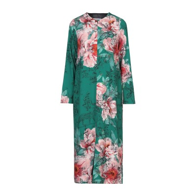 SOALLURE 7分丈ワンピース・ドレス グリーン 40 レーヨン 100% 7分丈ワンピース・ドレス