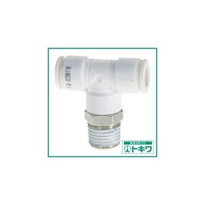 チヨダ ファイブメイルブランチティ W(白)8mm・R1/4 ( F8-02MTW ) 千代田通商(株)