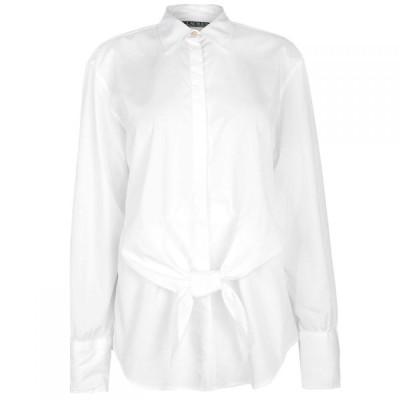 ラルフ ローレン Lauren by Ralph Lauren レディース ブラウス・シャツ トップス Sarotte Long Sleeve Shirt White