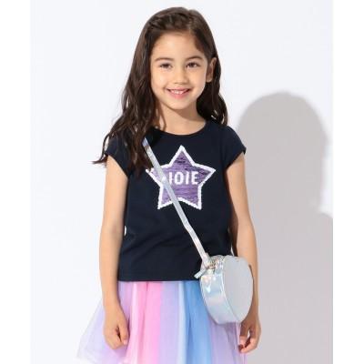 【KIDS】ミラクルスパンコール ハート/スター 吸水速乾 Tシャツ