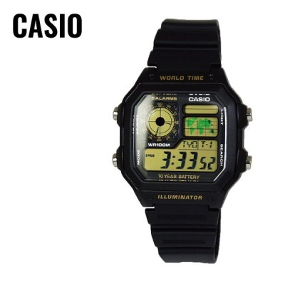 【CASIO純正箱付き】CASIO カシオ SPORTS GEAR スポーツギア AE-1200WH-1B ブラック 腕時計 ユニセックス 海外モデル 送料無料