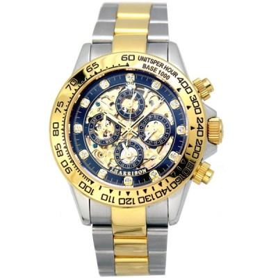 [ジョンハリソン]J.Harison 腕時計 自動巻き ブラック文字盤 JH-003GBK メンズ