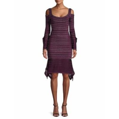 エルベレジェ レディース ワンピース Knit Cold-Shoulder Dress