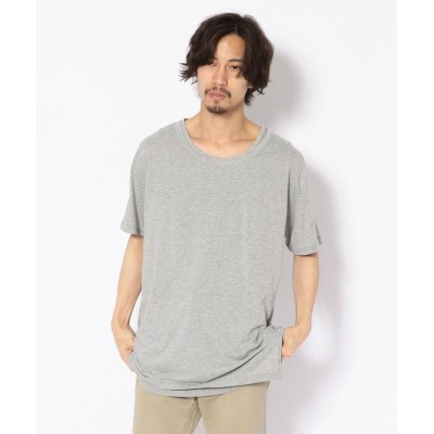 【RAWLIFE】 RESOUND CLOTHING/リサウンド クロージング/loose layered TEE メンズ GREY 1 RAWLIFE