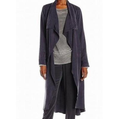 ファッション 衣類 YFB NEW Gray Womens Size Medium M Chicago Draped Open Front Coat
