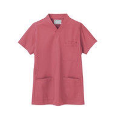 住商モンブラン住商モンブラン スクラブ(男女兼用) ジャケット 医務衣 医療白衣 半袖 ローズレッド LL 72-636(直送品)
