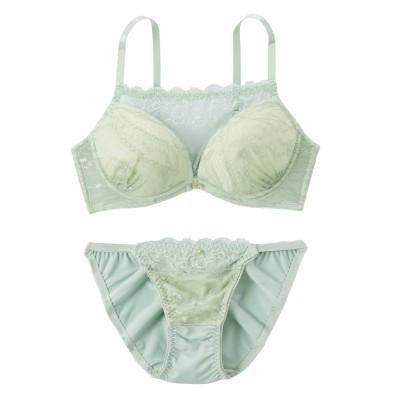 デザインレースブラジャー。ショーツセット(F70/M) (ブラジャー&ショーツセット)Bras & Panties